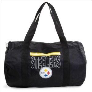 Steelers NFL Duffle Bag M Logo Black New pittsburg